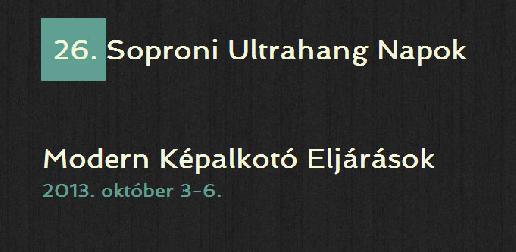26. Soproni Ultrahang Napok, 2013 -